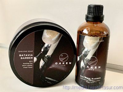Oaken Lab Batavia Barber Shaving Soap + After Shave